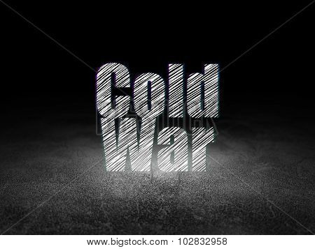 Political concept: Cold War in grunge dark room