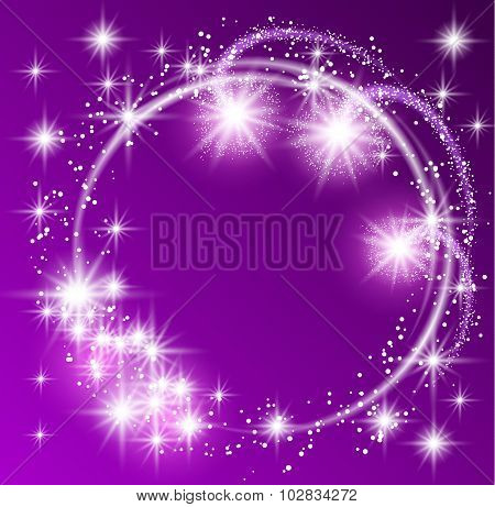 Glowing purple background