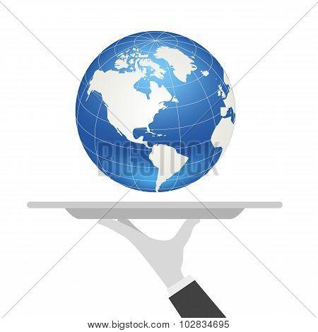 waiter tray earth