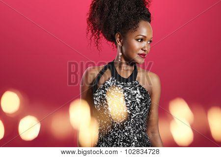 black woman in celebration Atmosphere