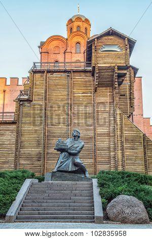 Monument To Yaroslav Mudry, Grand Duke Of Novgorod And Kiev, Holding Saint Sophia's Cathedral In His