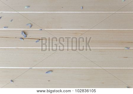 Wooden background with lavender