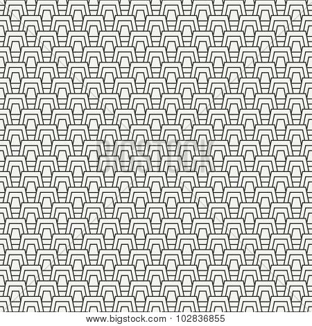 Geometric line monochrome abstract hipster seamless pattern with trapeze. Wrapping paper. Scrapbook