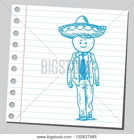 Businessman with sombrero