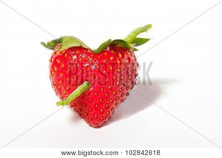 Strawberry Heart With Arrow Caterpillar