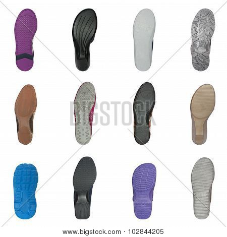 set of various shoe soles