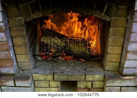 Fireplace Close View