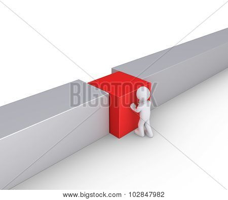 Person Is Connecting Wall