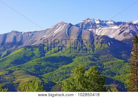Foothills and mountains near Telluride Colorado USA.