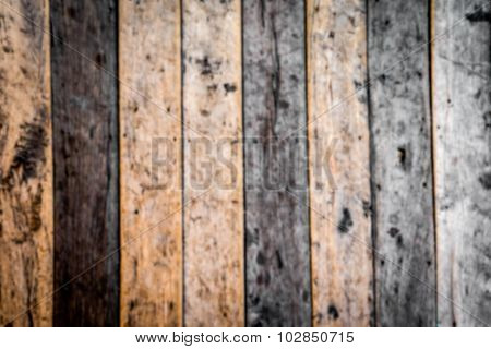 Blur Wooden Slats Panel Background Or Texture,out Of Focus