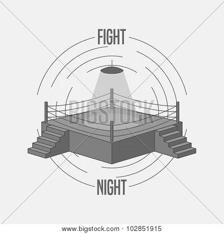 Boxing Ring Logo
