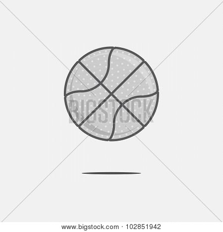 Dribbling Basketball Ball Logo