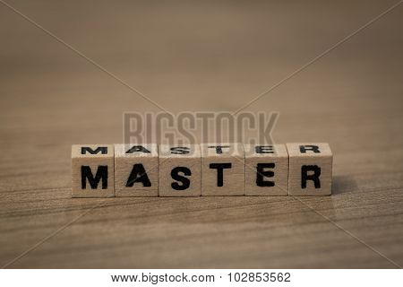 Master In Wooden Cubes