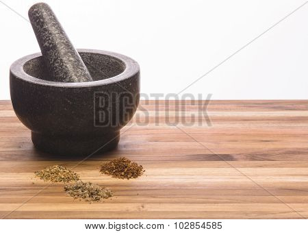 Mortar And Pestle Homemade Spices