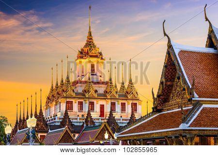 Wat Ratchanatdaram in Bangkok, Thailand.