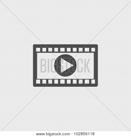 Video Icon. Flat Design Style. Vector Eps 10.