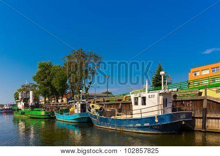 Cruise boats at wharf
