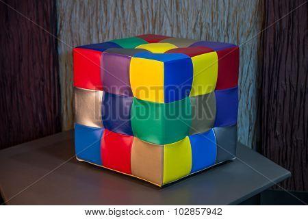 Rubik's cube pouffe