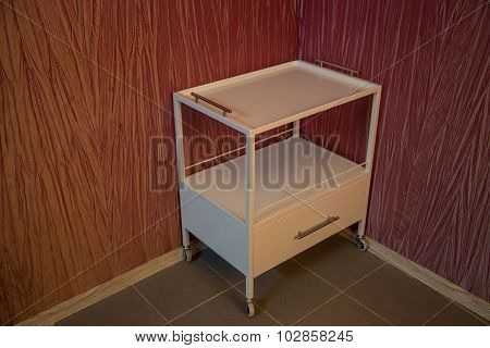 Medical trolley with box