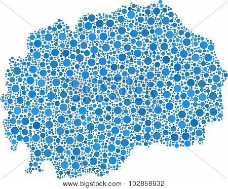 Isolated map of Macedonia