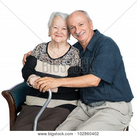 Senior Man With Old Woman