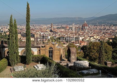 Florence From San Miniato Del Monte