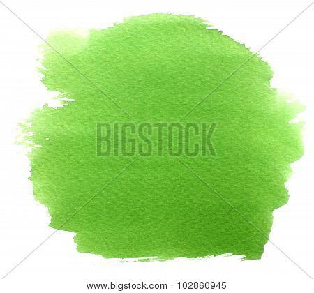 Abstract Green Watercolor Spot