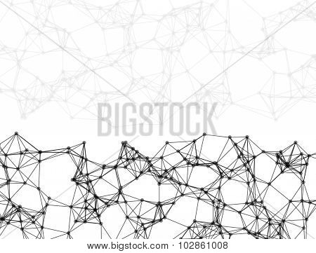 Abstract Particles On White