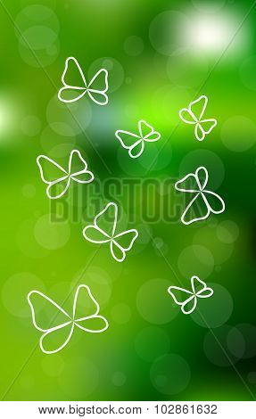Vector Buttefly Background