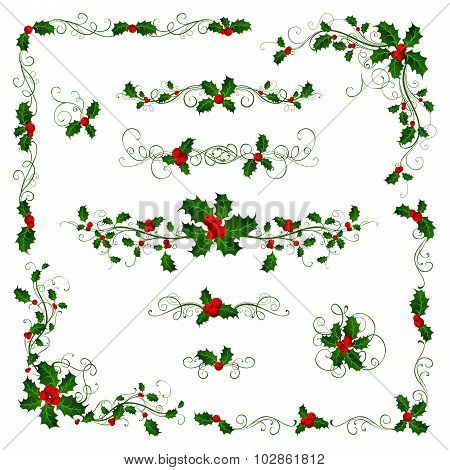 Christmas Page Dividers And Decorations.