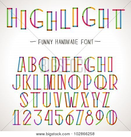 Vector Colorful Alphabet