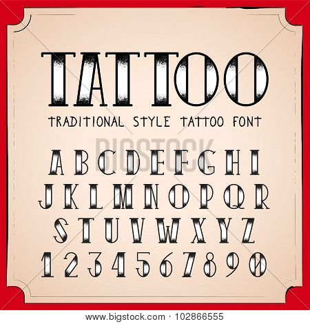 Old School Tattoo style font