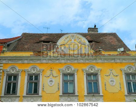 Classic House Architecture In Sibiu, Transylvania.