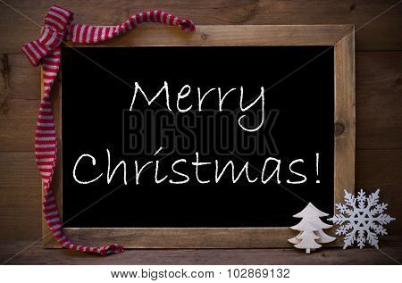 Chalkboard With Decoration Christmas