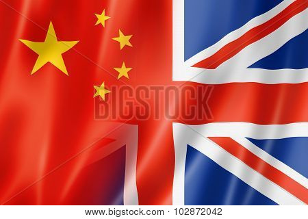 China And Uk Flag