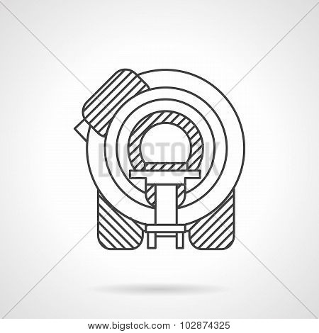 Flat line MRI device vector icon