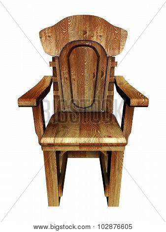 Old wooden stylish chair.