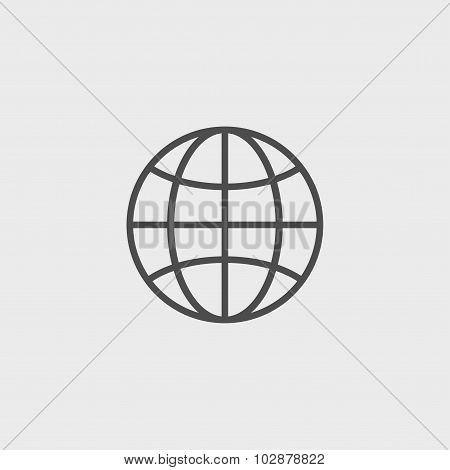 World Globe Icon, Pictogram Icon