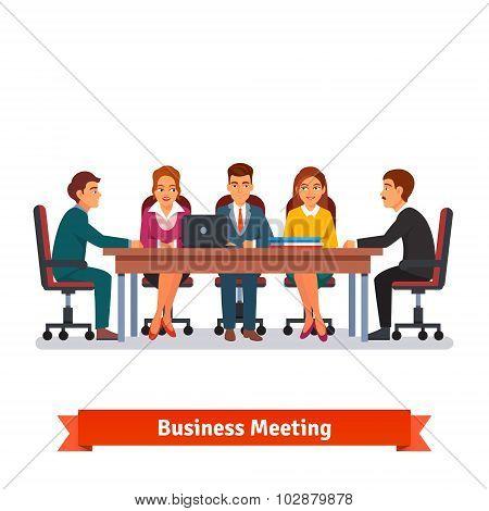 Directors board business meeting. Brainstorming