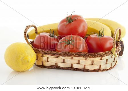 Ripe Fruits And Vegetables