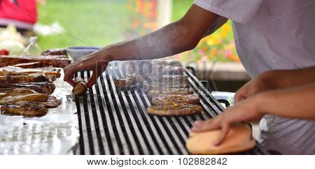 Tasty Meat On The Grill