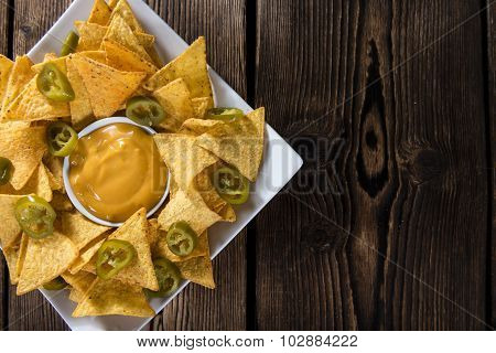 Nachos With Cheese Sauce