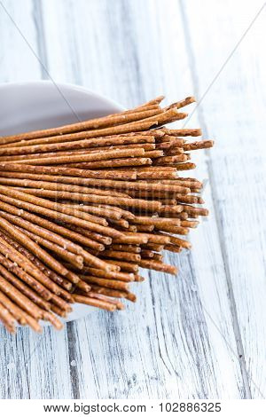 Salt Sticks (close-up Shot)