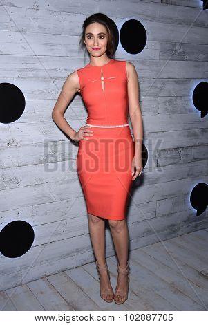 LOS ANGELES - SEP 24:  Emmy Rossum arrives to the Go90 Sneak Peek  on September 24, 2015 in Hollywood, CA.