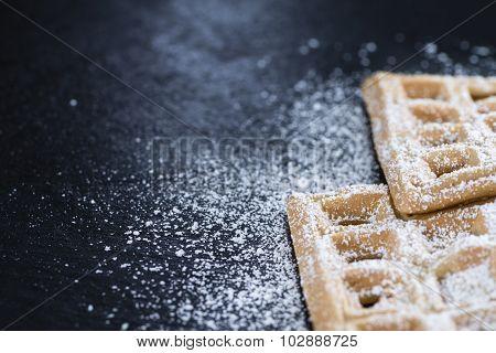 Fresh Made Waffles With Powder Sugar