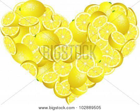 Lemon Heart Shaped
