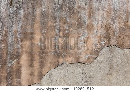 Antique Textured Wall From Stone In Rome