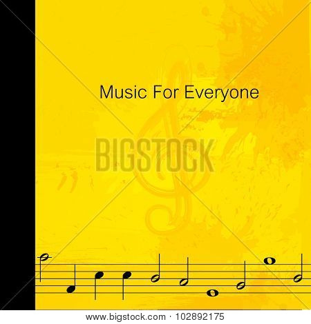 note grunge music background easy all editable