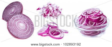 Red Onions (isolated On White)