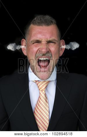 Portrait Of An Angry Businessman